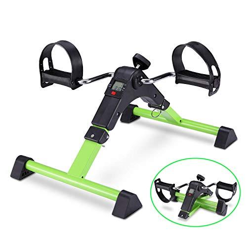 Pedal Exerciser Foot Peddler Mini Bike Faltbar mit LCD-Monitor für Arm und Bein unter Schreibtisch