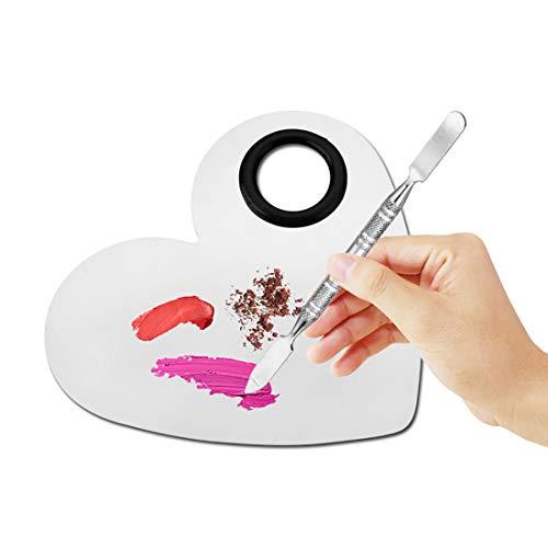 Hivexagon Palette de mélange en forme de cœur avec une sorte de spatule pour le maquillage les cosmétiques ou le mélange de produit pour les ongles (nail art) M-BT061