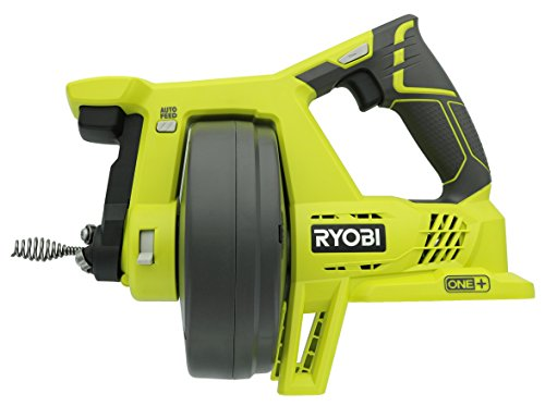 Ryobi P4001 One+ 18V Lithium Ion All-In-One 25 Foot Drain Auger for Sinks or Toilets (Battery Not...