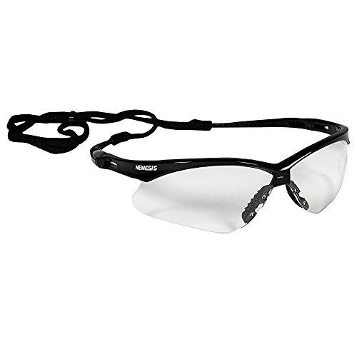 KleenGuard V30 Nemesis Safety Glasses (25679), Clear Anti-Fog Lens with Black Frame, 12 Pairs / Case