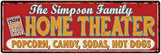 Chico Creek Signs The Simpson Family Home Theater Sign Gift 6x18 Metal Movies Decor 106180100145