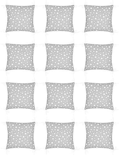 Amilian Baby Nestchen Bettumrandung 420 cm x 35 cm Bettnestchen Kantenschutz Kopfschutz für Babybett Sternchen KLEIN Grau