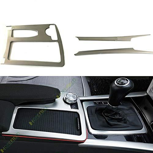 Auto Styling Mittelkonsole Schaltpaneel Abdeckung Aufkleber Trim Für C Class W204 W212 C180 Innen Zubehör (Edelstahl matt silber)
