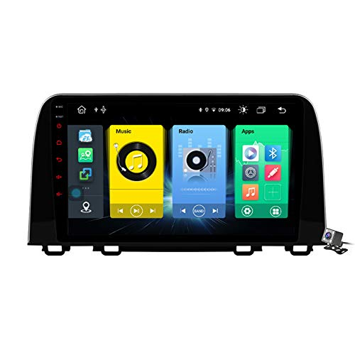 Buladala Android 9.1 10,2' Pantalla Táctil Completa Reproductor Multimedia para Honda CR-V 5 2016-2018 Soporte GPS Navigation/FM RDS Stereo Radio/BT Hands-Free Calls/Control del Volante,7862: 6+128