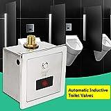 Berkalash Automatischer Urinal, Infrarot Sensor Spülventil Druckspüler Urinalbecken Ventil Flush Valve, Urinal Induktive Toilettenspülung