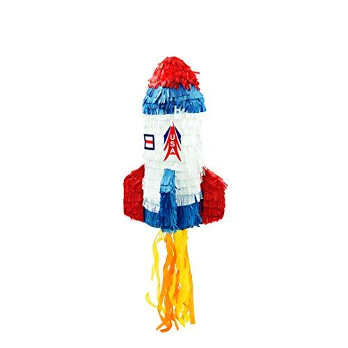Trendario Pinata Rakete, Ideal zum Befüllen mit Süßigkeiten und Geschenken - Piñata für Kindergeburtstag Spiel, Geschenkidee, Party, Hochzeit