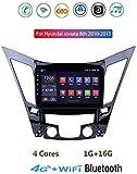 """Android 8.1 Navigazione GPS autoradio, 9""""touch screen schermo TV stereo, per Hyundai Sonata 2010-2015 con controllo del volante di Bluetooth Hands-Free Calls Specchio link DAB MP5."""