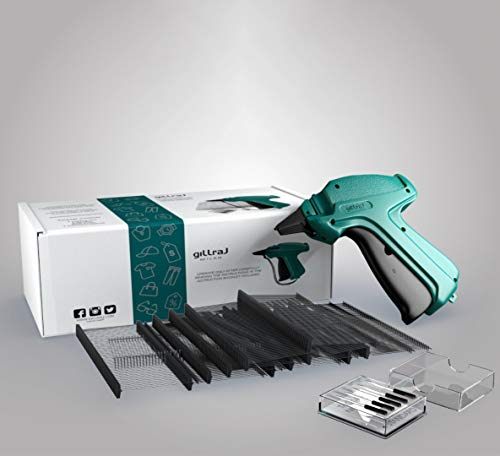 """GILLRAJ MILAN【5000pcs】Clothes Tagging Gun with 5000 2"""" Standard Black Barbs and 6 Needles Clothing Retail Price Tag Gun Kit for Boutique Store Warehouse Consignment Garage Yard Sale"""