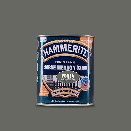 Hammerite Esmalte directo sobre hierro y óxido Forja Gris Oscuro 750 ml
