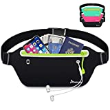 AIKENDO Slim Running Belt Fanny Pack,Fitness Waist Pouch Bag Exercis Gym Waist Pack,Jogging Belt Runners for iPhone XS Max XR 8 7 plus Samsung Note,Workout Running Accessories Phone Holder for Running