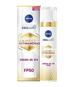 NIVEA Cellular Luminous 630 Antimanchas Crema De Día Fp50 Fluido Triple Protección, Crema Iluminadora De Cuidado Facial, Tratamiento Antimanchas Con Fp50, Estándar, Vanilla, 40 Mililitro
