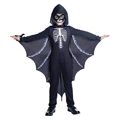 YT Electronic shop Halloween Children Skelebones Bat Costume with Eye Mask and Hand Belt