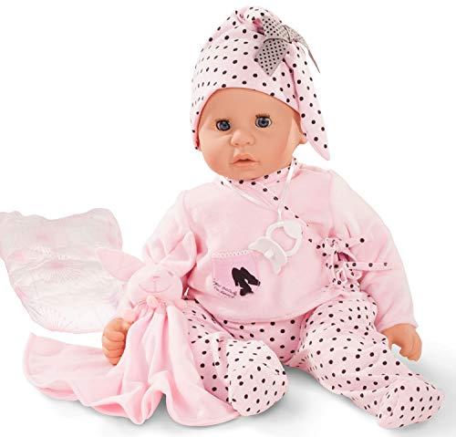 Götz 1661045 Cookie Ladies & Spots Puppe - 48 cm große Babypuppe mit blauen Schlafaugen, ohne Haare, einem Weichkörper - 7-teiliges Set