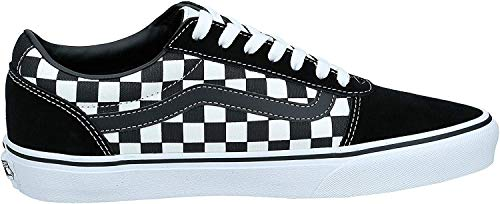 Vans Men's Low-Top Sneakers, Black Checker Black True White Pvj, 5.5 UK