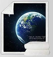 ブランケット・毛布ファンタジーサテライトアースムーンブランケットソファベッドチェアレスト秋冬スロー寝具室内装飾ブランケット(B)130*150 CM