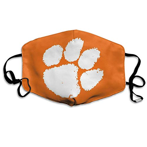 Clemson Tiger Paw Fußball South Carolina Territory Orange,Mouth Scarf,Gesichtsdekorationen,Gesichtsschutzhülle,Staubschutz,Mundschutz,Staubschutzhülle