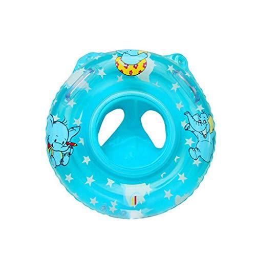 FEDSJUIHYG Baby-Schwimmen-Ring-aufblasbare Schwimmer Schwimmen-Ring für Kinder Kleinkind Kleinkind mit Sicherheit Sitz Boot Pool Schwimmen Ring Early Learning Spielzeug - Blue-Baby-Schwimmring