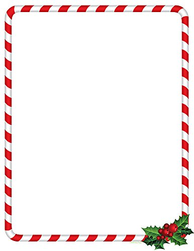 Great Papers! Candy Cane Holly Holiday Letterhead, 8.5' x 11', 80 sheets (2018020)