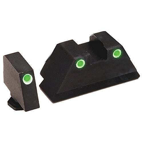 AmeriGlo GL-329 Tall Suppress 3Dot Tritium For Glock, Black
