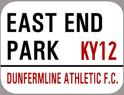 Dunfermline Athletic Metal Street Sign Outside Or Inside Use Retro Decor Plaque 8X12 inch
