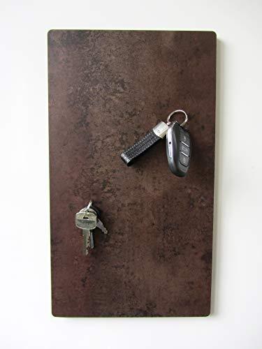 Magnet-Schlüsselbrett, Schlüsselboard mit Vinyloberfläche in Rost-Optik, Größe 40cm x 22,5cm