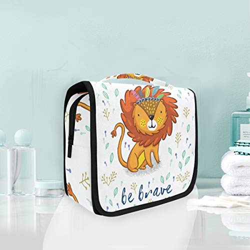 Make-up cosmetische tas schattige leeuw schilderij draagbare opslag reizen toilettas