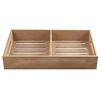 Spanish Cedar Tray Cigar Tray Adjustable Divider Fits Large Humidors Made with Solid Spanish Cedar Dimensions 12 7/8  X 7 1/2  x 2 1/3