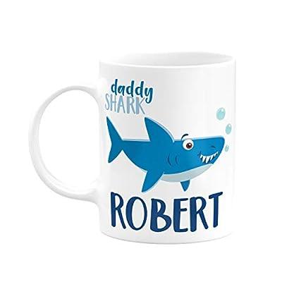 Shark Family Gifts, Coffee Mug with Name - Daddy Shark, Mommy Shark, Grandma Shark, Grandpa Shark