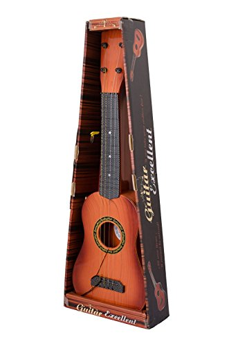 Tickles 4-String Acoustic Guitar Learning Kids Toy , Brown 18""