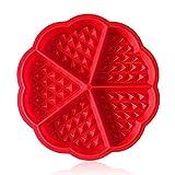 Ztsy Waffel-Form, Motiv: Mini-Herz, aus Silikon, für Waffeln, Backen, Muffin, in Rot
