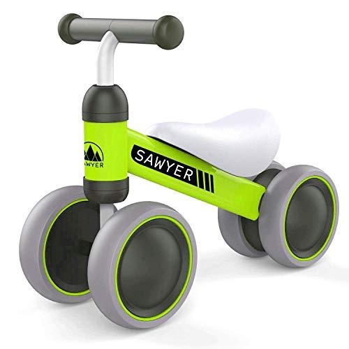 Sawyer - Correpasillos/Bicicleta Sin Pedales - Niños 10 a 24 Meses - Bebes 1 año (Verde)