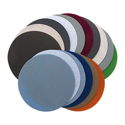 RUBOE Discos de lija de 125 mm en seco y húmedo, 10 unidades de 1500, 2000, 3000, 5000, 7000, 10000, grano resistente al agua de 5 pulgadas, 30 unidades mezclados para lijadora excéntrica, 30 unidades