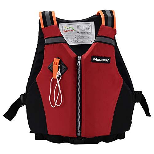 YAOQI Chaleco Salvavidas de Flotabilidad Universal Paddle Kayak Chaleco Salvavidas Chaleco de Supervivencia Seguro con Silbato de Emergencia y Tiras Reflectantes para Nadar Canotaje