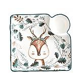 ZZRR Piatto da Sushi in Ceramica squisita da 7,5 Pollici, Artigianato sottosmalto Dipinto a Mano, può Contenere Insalata e Pasta alla Frutta, utilizzato in microonde, lavastoviglie, Forno