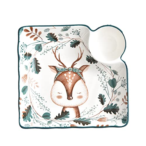 ZZRR 7.5in Creative Exquisite Ceramic Sushi Plate, Hand-painted Underglaze Craftsmanship, Can Hold Salad And Fruit Pasta, Used in Microwave, Dishwasher, Oven