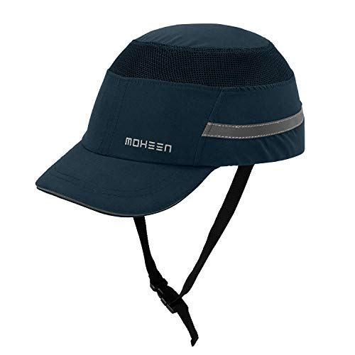 Blue Baseball Bump Cap - Lightweight Safety Hard Hat Head Protection Cap Navy Blue-Short Brim