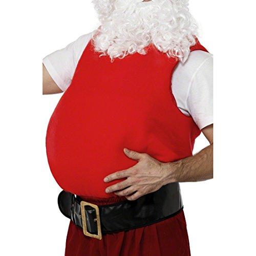 Amakando Ventre de Père Noël Accessoire pour Costume Saint-Nicolas Coussin pour Le Ventre Santa Claus Déguisement Fête