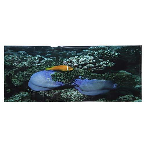 SALUTUYA Aquarium Dekoration Meeresboden Gelb Fischmuster Fischtanks Tapete PVC Pasteable für Aquarium Landschaft Verschiedene Größen für Wasserleben(122 * 50cm)