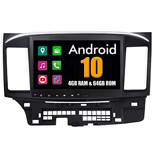 Roverone 10,2 Pollici Android 8.0 Octa Core autoradio GPS per Mitsubishi Lancer EVO Galant Fortis ispira con navigazione radio stereo Bluetooth specchio Link Full touch screen