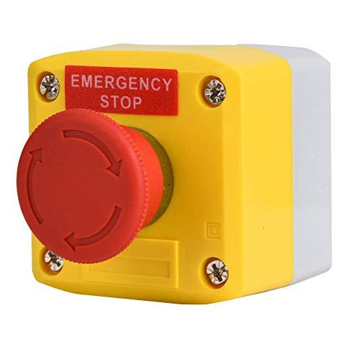 Interruptor De Botón De Parada De Emergencia De Señal De Emergencia Rojo, IP65 Impermeable SP-A001