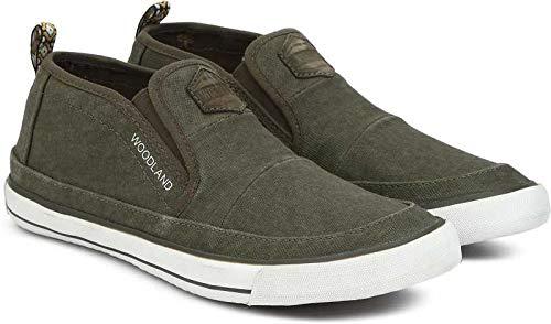 Woodland Men's OGREEN Canvas Sneakers - 5 UK/India (39EU), (GB 2479117C)