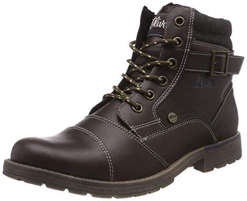 s.Oliver Herren 16209-21 Combat Boots, Braun (Dark Brown 302), 44 EU