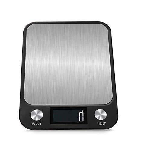 Digitale keukenweegschaal Multifunctioneel met betrouwbare nauwkeurigheid Roestvrij staal 10 kg / 5 kg Hoge precisie 1G elektronische weegschaal voor koken en bakken(Met USB-interface)