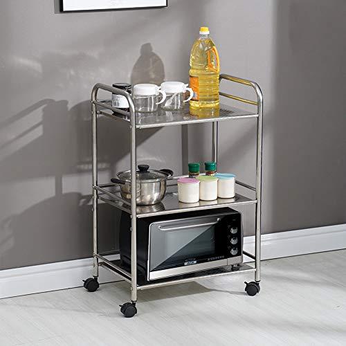 3 Etagen abnehmbarer Catering Trolley Servierwagen Räderwagen Küchenwagen Küchenwagen Ideal für Hotel Restaurants und Pflegeheime edelstahl silber