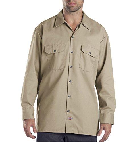 Dickies Men's Long Sleeve Work Shirt, Desert Sand, X-Large