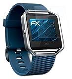 atFoliX Schutzfolie kompatibel mit Fitbit Blaze Folie, ultraklare FX Bildschirmschutzfolie (3X)