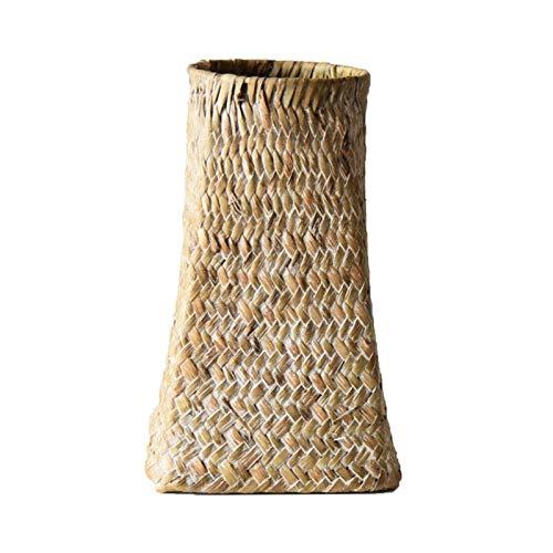 QULONG 7.87 Vasi Decorativi in Vimini Alti, vasi di Fiori secchi Intrecciati in Rattan, cesti di bambù Fatti a Mano in Stile Rustico per composizioni Floreali secche Home House Hotel Decor