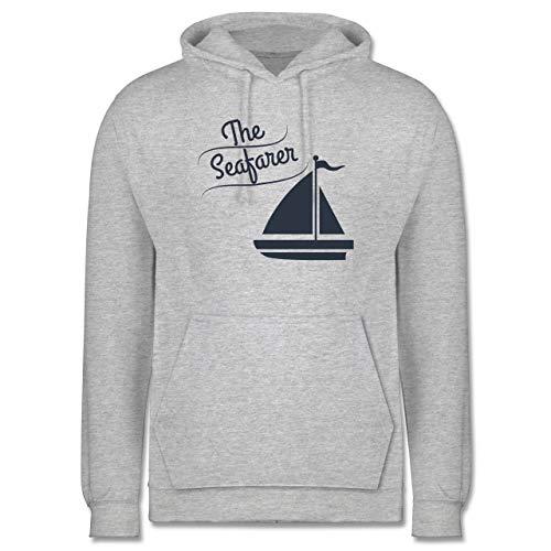 Shirtracer Schiffe - The Seafarer Segelboot - 4XL - Grau meliert - JH001_Hoodie_Herren - JH001 - Herren Hoodie und Kapuzenpullover für Männer
