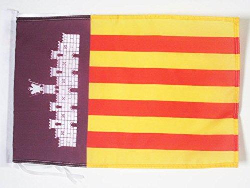 AZ FLAG Flagge Mallorca 45x30cm mit Kordel - Mallorca Fahne 30 x 45 cm - flaggen Top Qualität