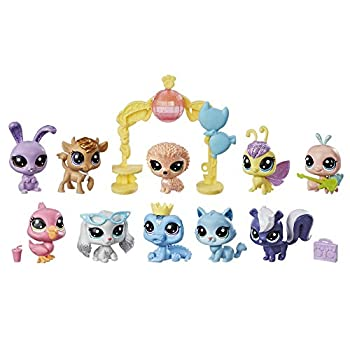 Littlest Pet Shop Sparkle Spectacular Collection Pack Toy Includes 10 Glitter Pets Ages 4 and Up  Amazon Exclusive